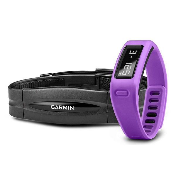 Фитнес браслет Garmin vivofit Purple HRM Bundle 010-01225-32 video