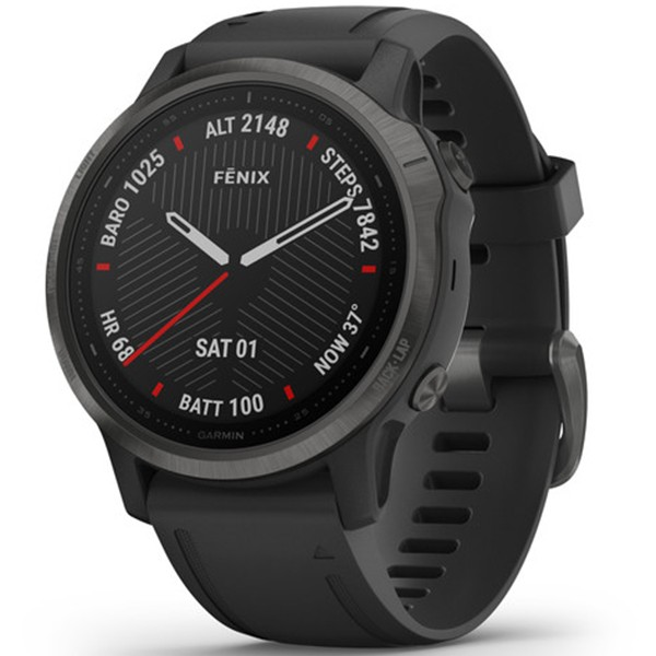 Спортивные часы Garmin Fenix 6S Carbon Gray DLC with Black Band 010-02159-25 video