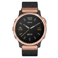 Фото Спортивные часы Garmin Fenix 6S Rose Gold-tone with Heathered Black Nylon Band 010-02159-37
