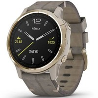 Фото Спортивные часы Garmin Fenix 6S Light Gold-tone with Shale Gray Leather Band 010-02159-40