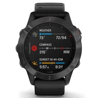 Фото Спортивные часы Garmin Fenix 6 Carbon Gray DLC with Black Band 010-02158-11