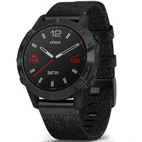 Фото Спортивные часы Garmin Fenix 6 Black DLC with Heathered Black Nylon Band 010-02158-17