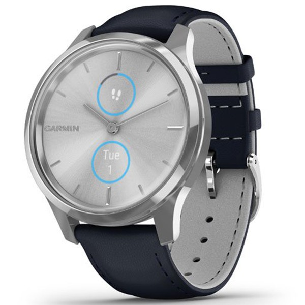 Фитнес часы Garmin vivomove Luxe Silver-Blue 010-02241-20 video