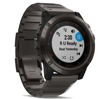 Фото Спортивные часы Garmin Fenix 5x Plus Sapphire Carbon Grey with DLC Titanium Band 010-01989-05